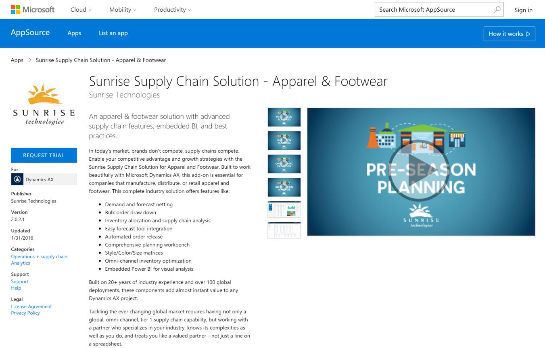 Sunrise on Microsoft AppSource