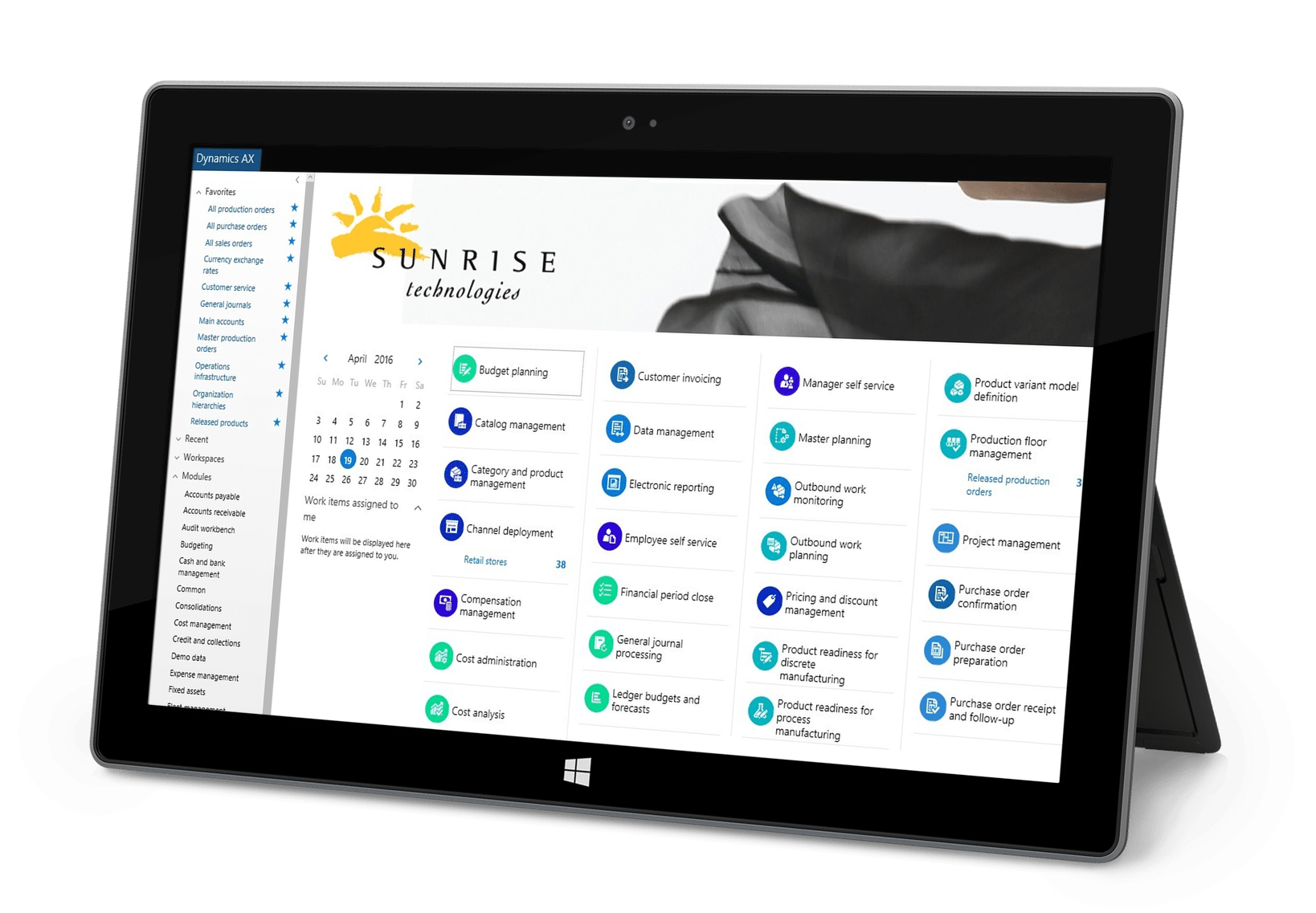 Sunrise Microsoft Dynamics AX Surface