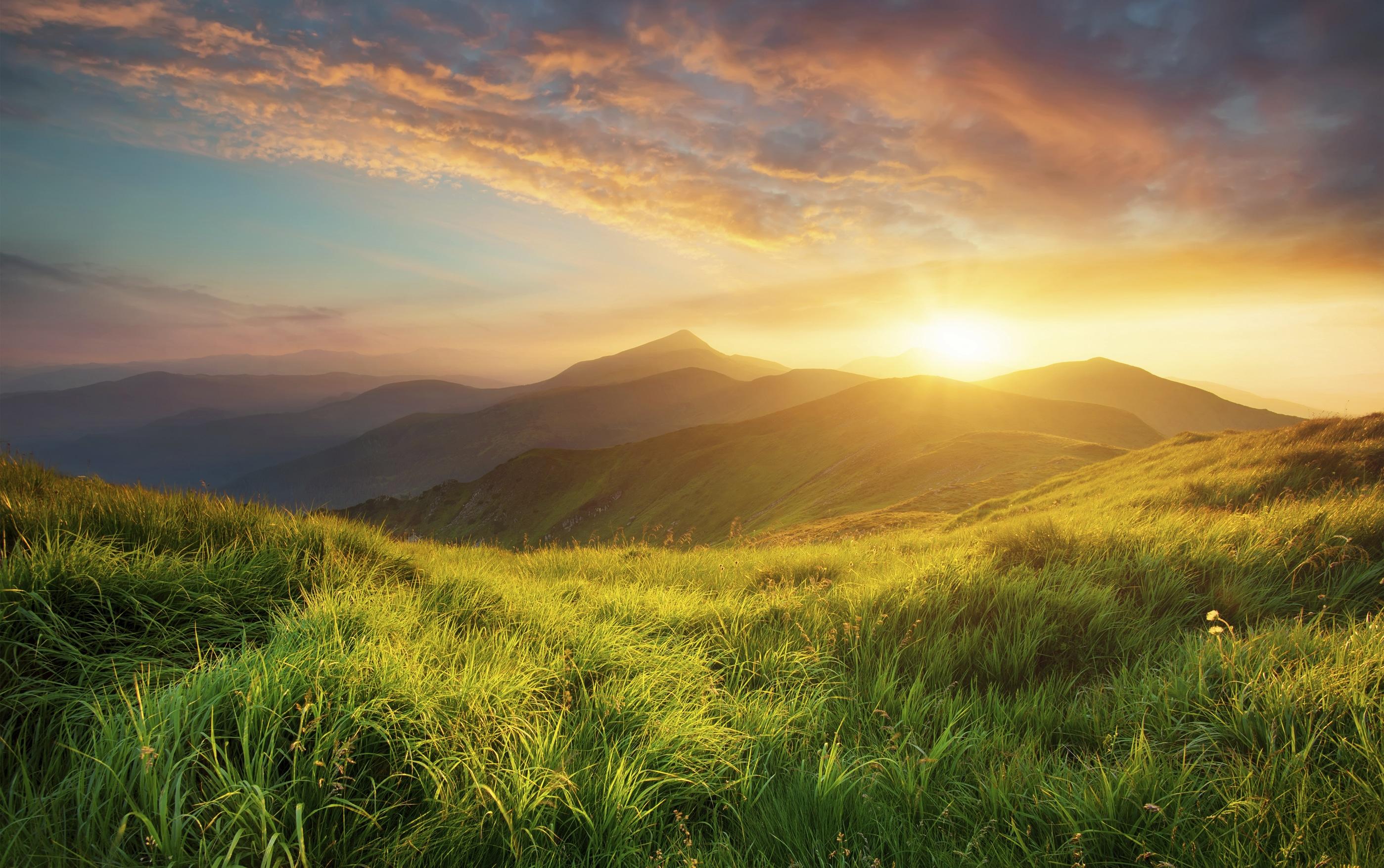 photo of mountain sunrise landscape