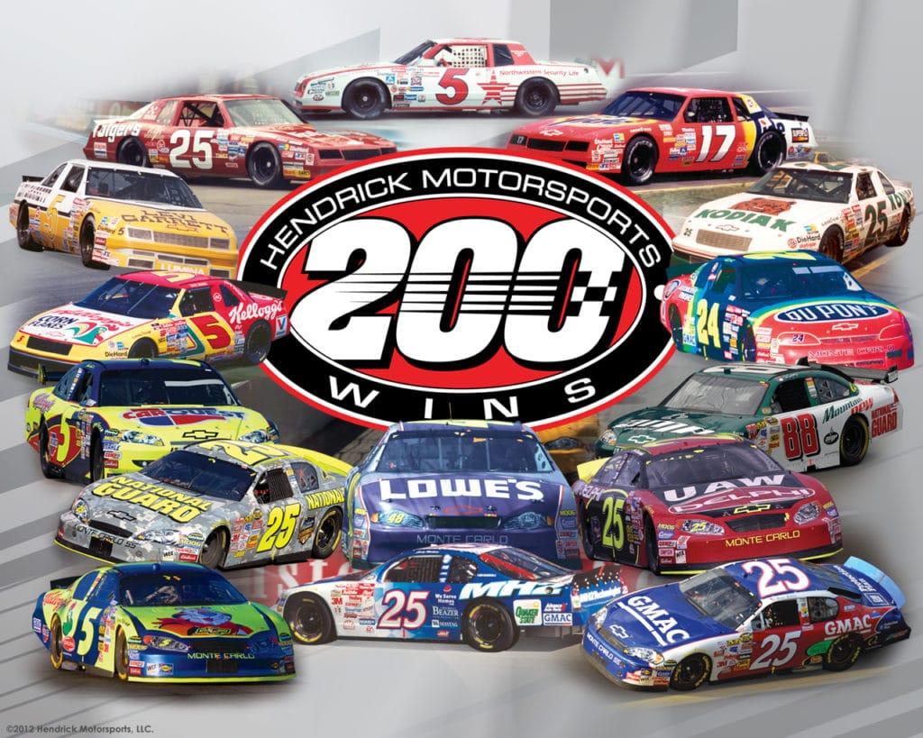 Hendrick 200 wins