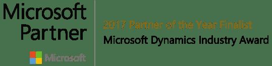 2017 Microsoft Partner of the Year Finalist Award