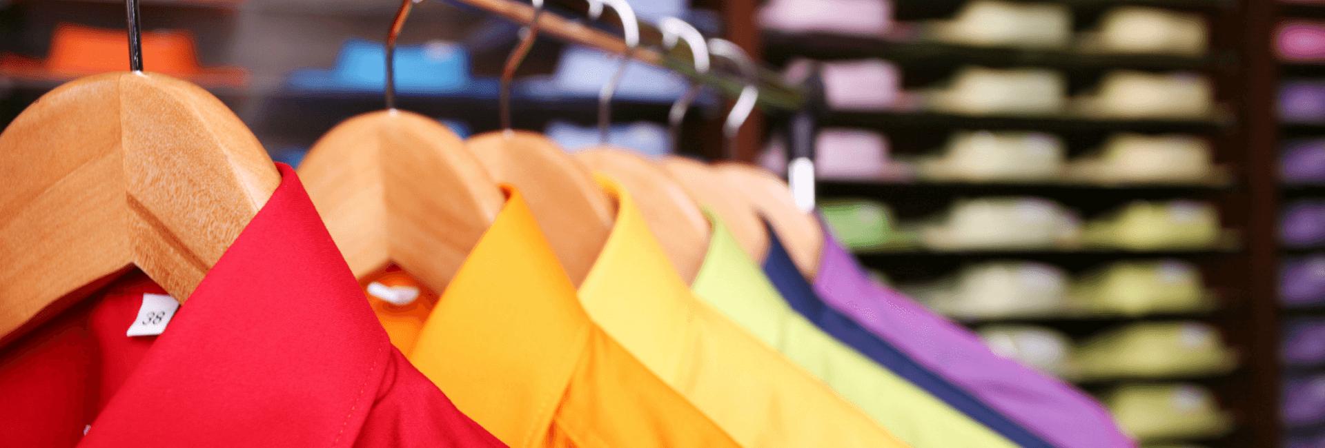 shirts clothing on hangers