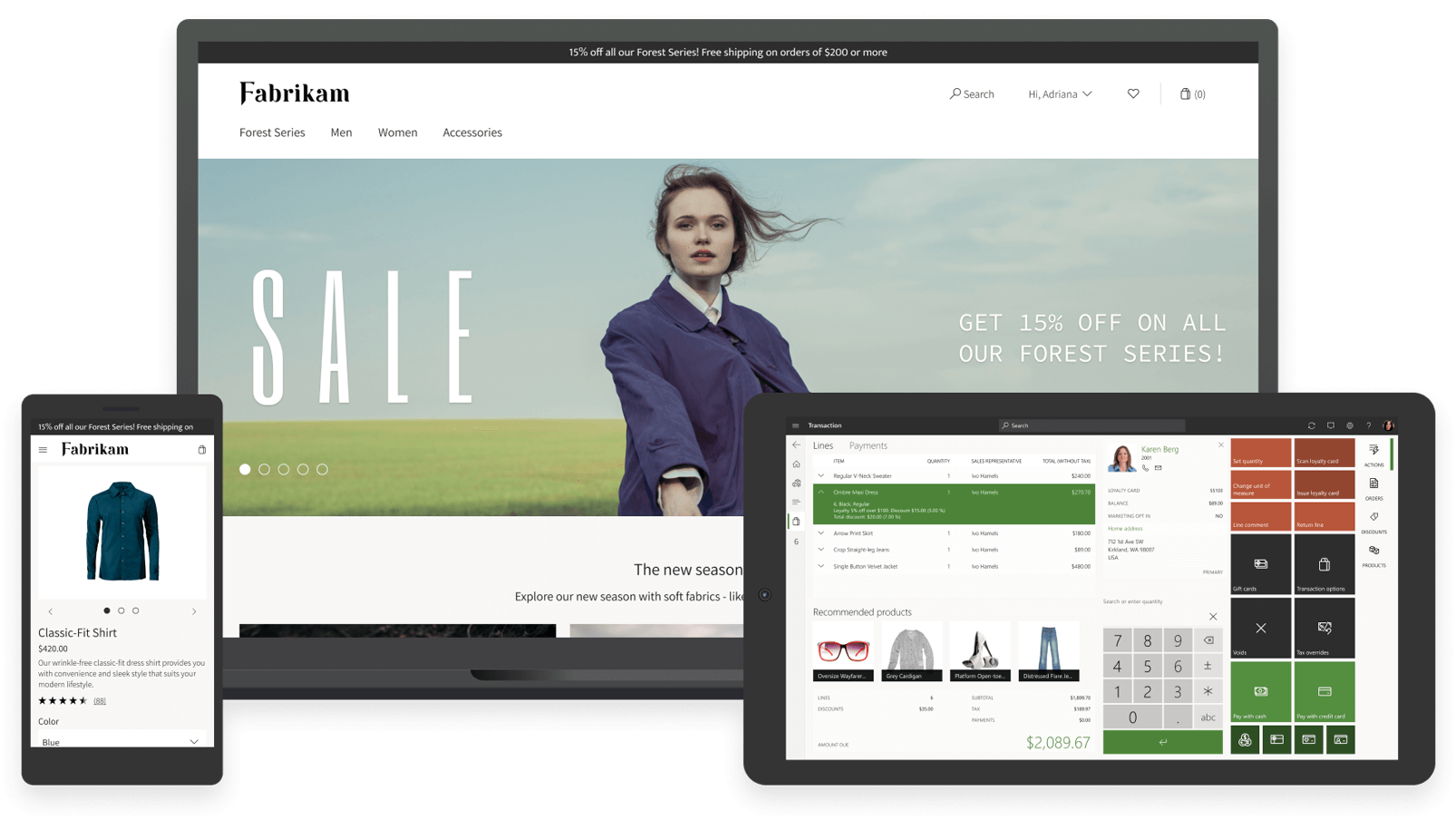 microsoft dynamics 365 commerce cross channel screenshots