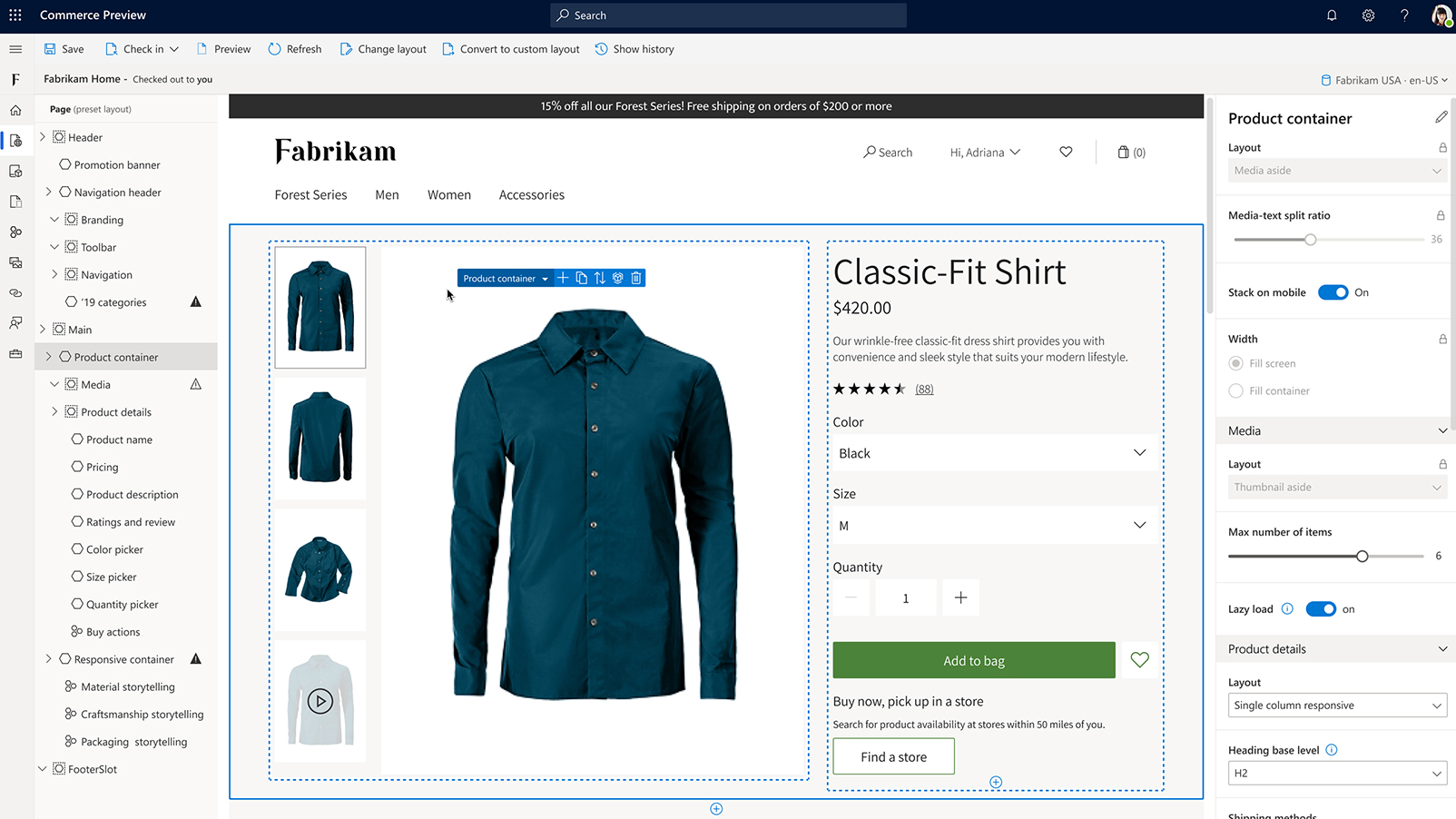 dynamics 365 ecommerce screenshot
