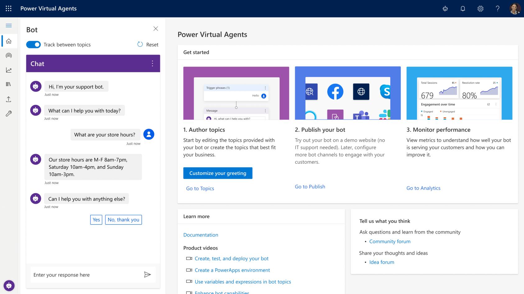 Microsoft Power Agents Screenshot