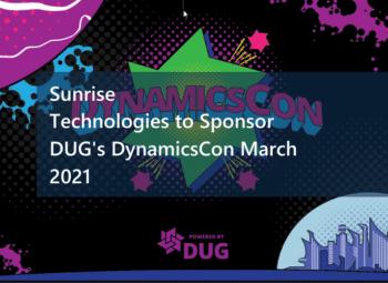 Sunrise Technologies to Sponsor DUG's DynamicsCon March 2021