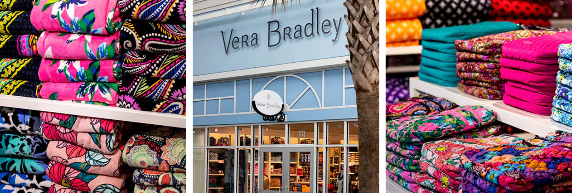 Vera Bradley bags and storefront