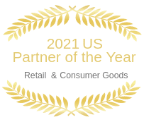 Award image for 2021 US Partner of the Year, Retail and Consumer Goods